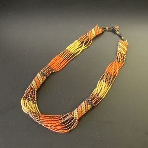 Jewelry - Multi-stranded Fall Colored Draped Necklace